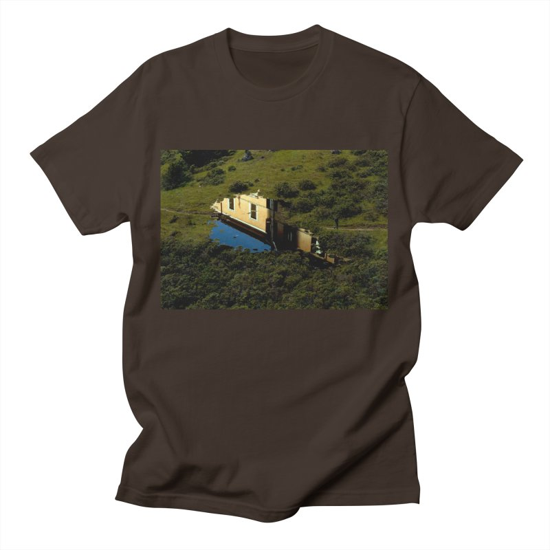 Puddle in a Mountain (Collage#1) Men's T-Shirt by zoegleitsman's Artist Shop