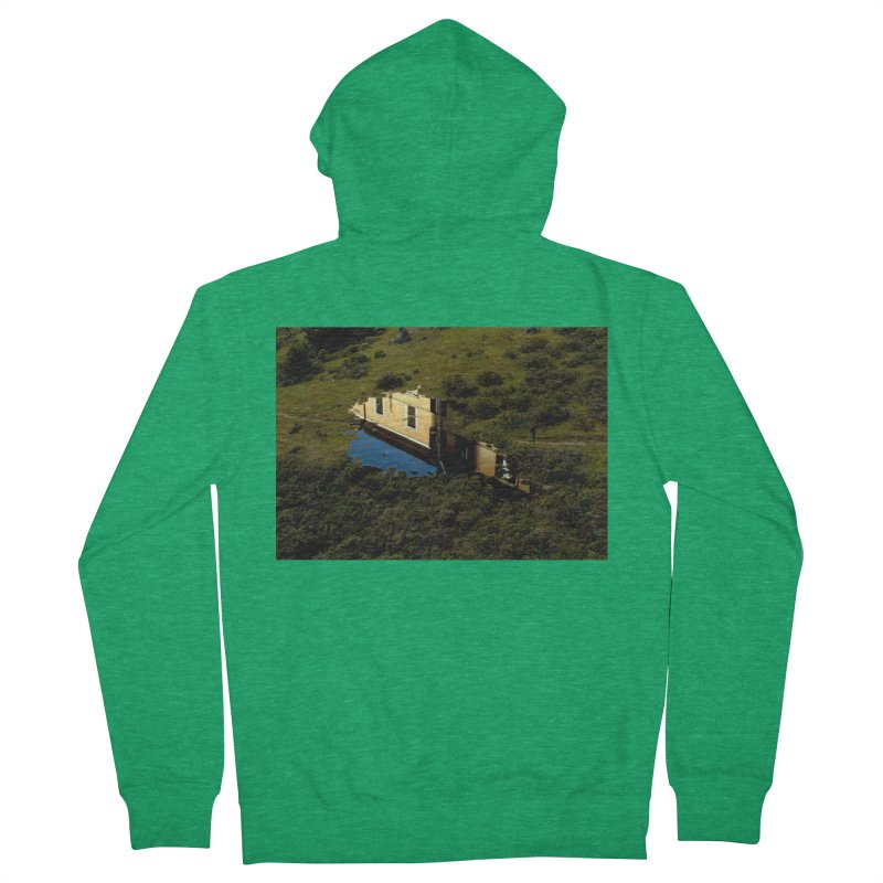 Puddle in a Mountain (Collage#1) Women's Zip-Up Hoody by zoegleitsman's Artist Shop