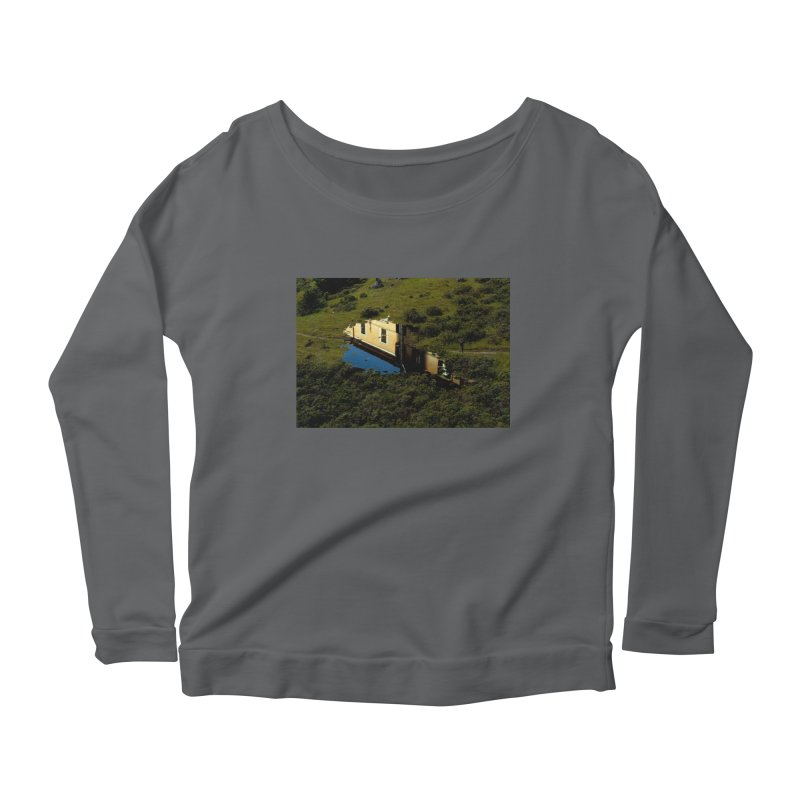 Puddle in a Mountain (Collage#1) Women's Longsleeve T-Shirt by zoegleitsman's Artist Shop