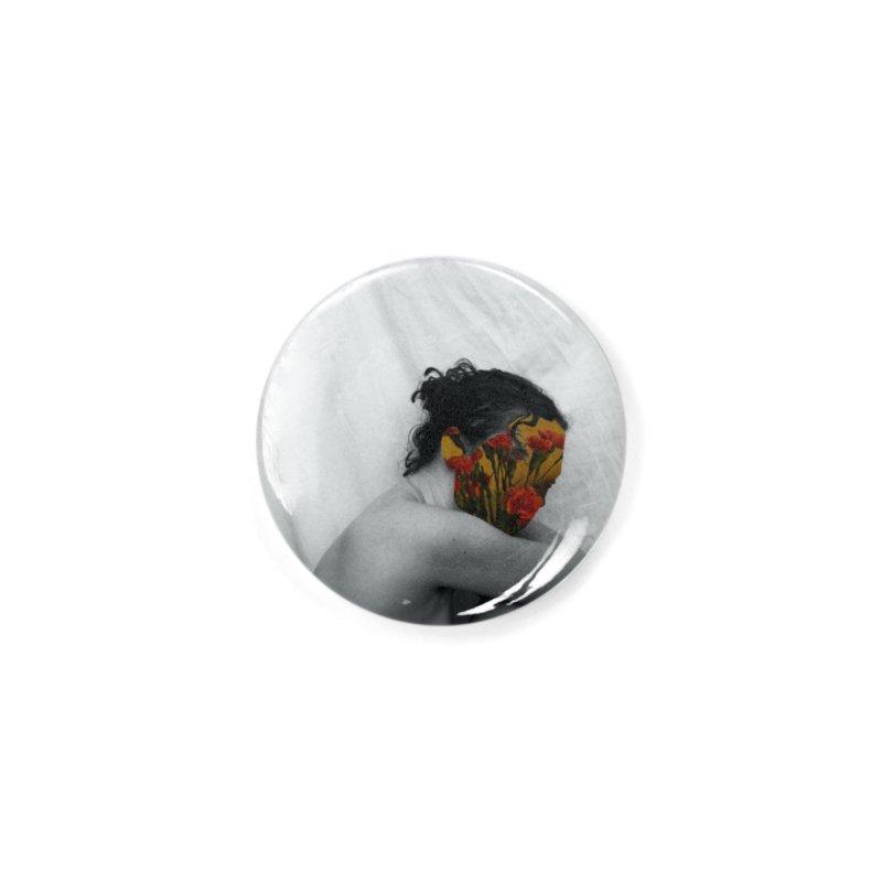 Flower Face (Collage#2) Accessories Button by zoegleitsman's Artist Shop
