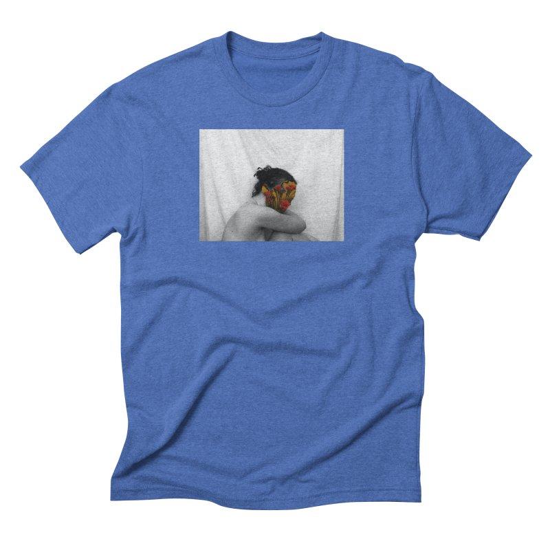 Flower Face (Collage#2) Men's T-Shirt by zoegleitsman's Artist Shop