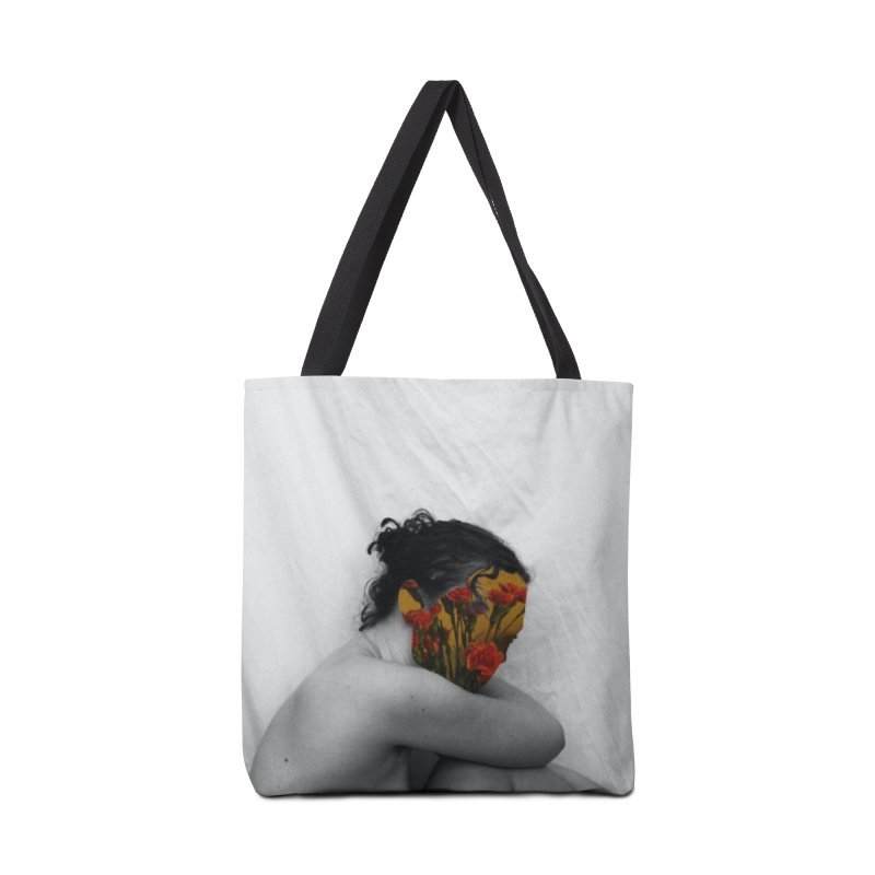 Flower Face (Collage#2) Accessories Bag by zoegleitsman's Artist Shop