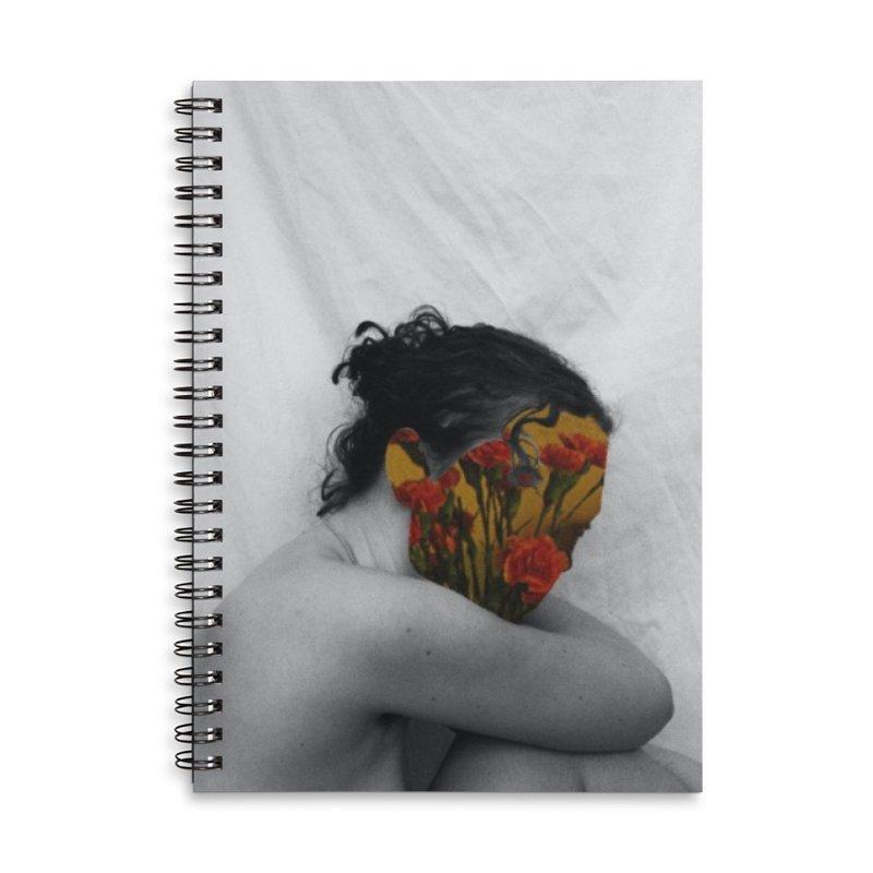 Flower Face (Collage#2) Accessories Notebook by zoegleitsman's Artist Shop