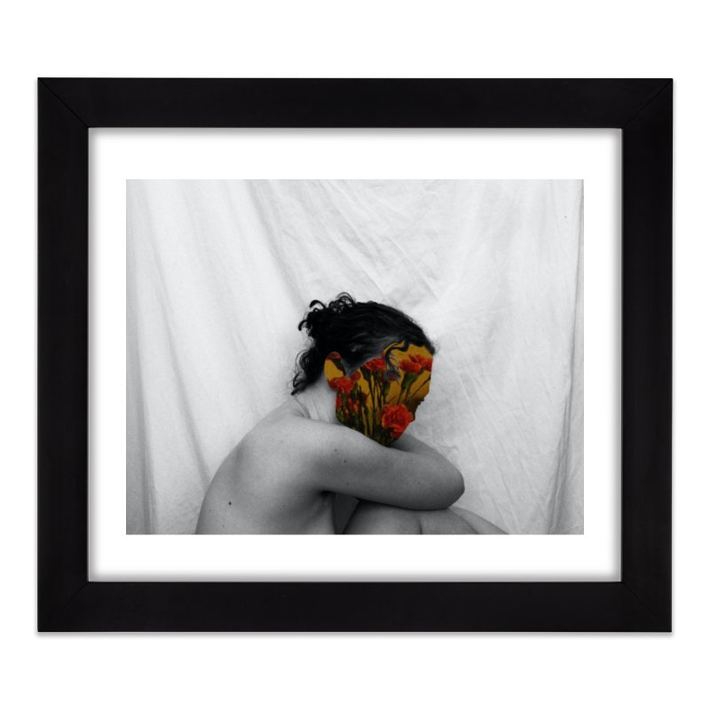 Flower Face (Collage#2) Home Framed Fine Art Print by zoegleitsman's Artist Shop