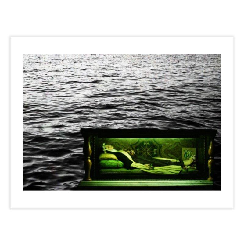 Sleeping Saint in the Water (Collage #3) Home Fine Art Print by zoegleitsman's Artist Shop