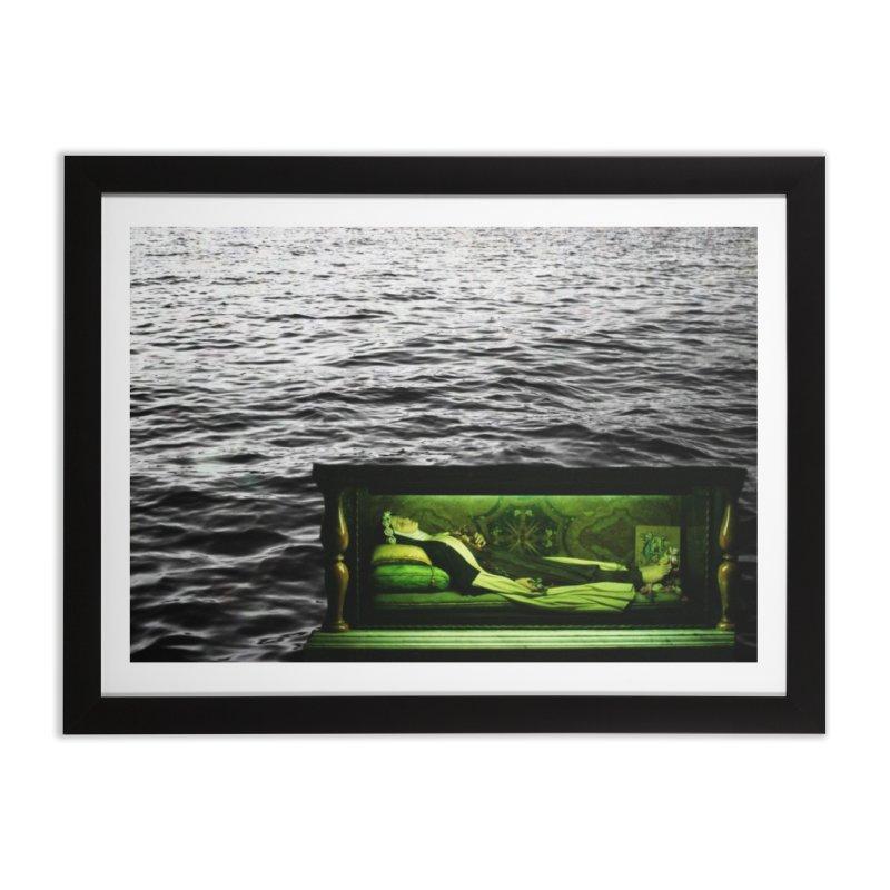 Sleeping Saint in the Water (Collage #3) Home Framed Fine Art Print by zoegleitsman's Artist Shop