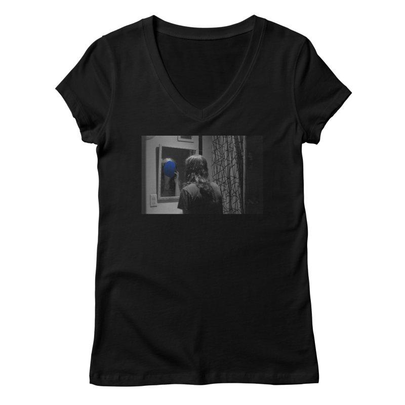 Ocean Mirror (Collage #4) Women's V-Neck by zoegleitsman's Artist Shop