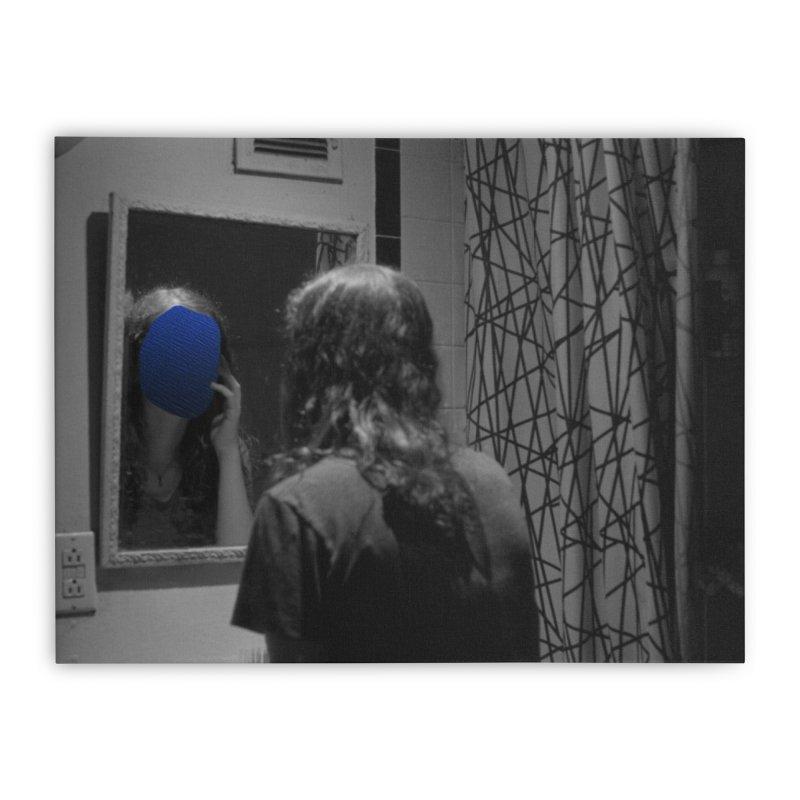 Ocean Mirror (Collage #4) Home Stretched Canvas by zoegleitsman's Artist Shop