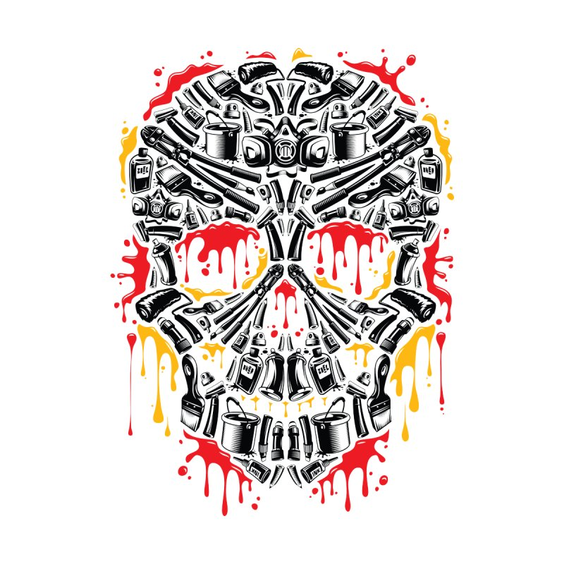 Sweet Streets Skull Men's T-Shirt by zoelone's Artist Shop