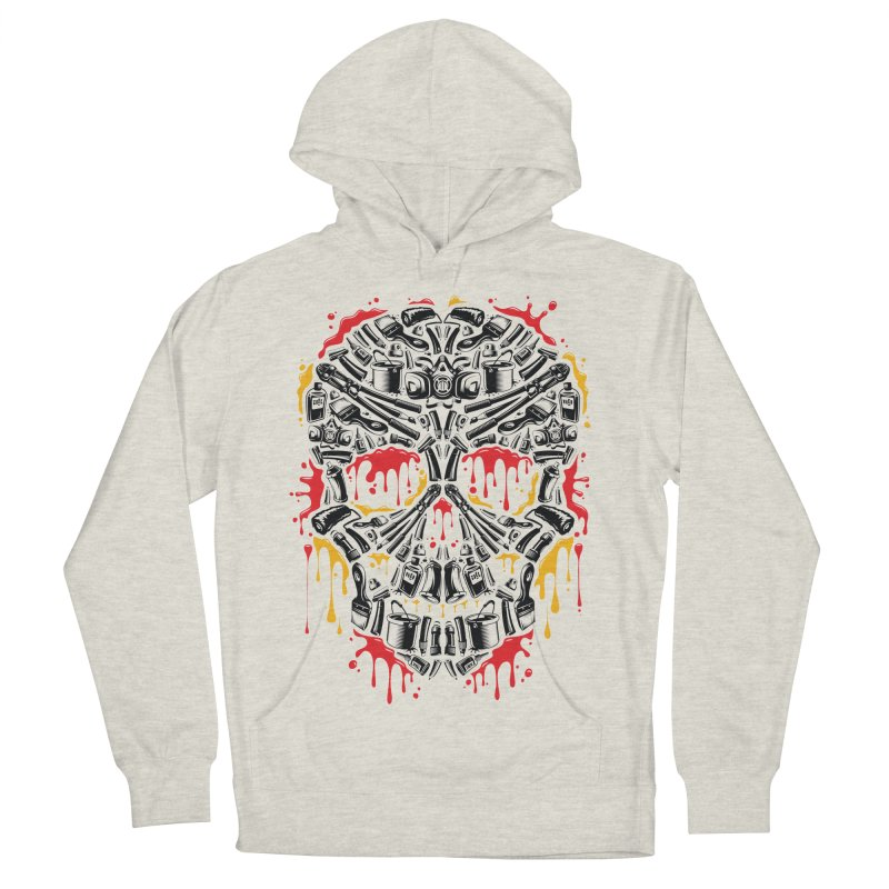 Sweet Streets Skull Women's French Terry Pullover Hoody by zoelone's Artist Shop