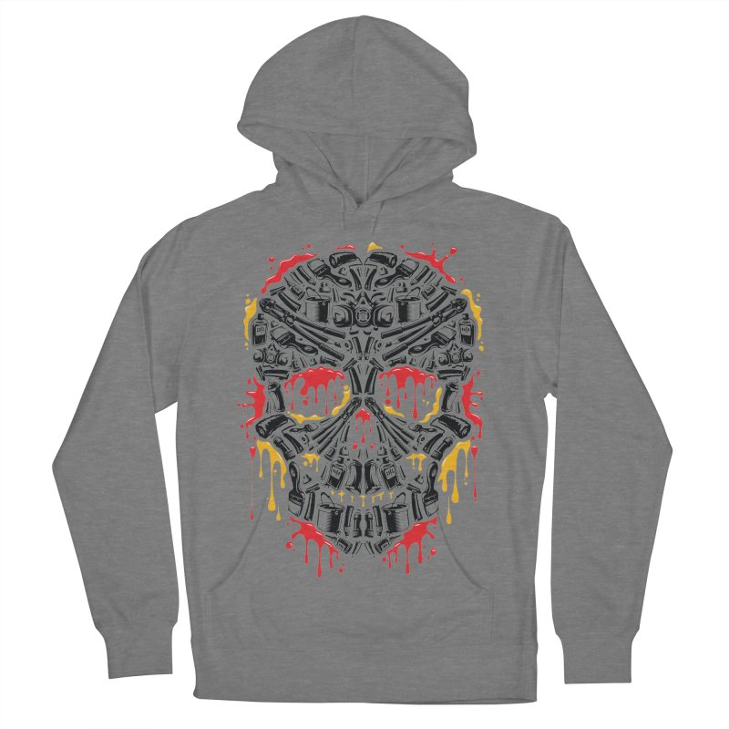 Sweet Streets Skull Men's French Terry Pullover Hoody by zoelone's Artist Shop