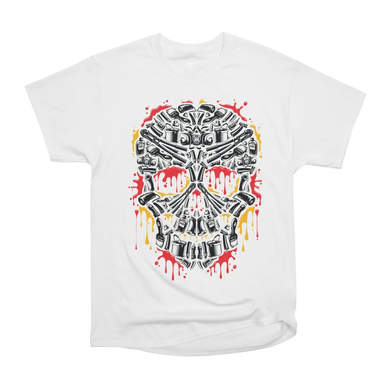 Sweet Streets Skull Men's Heavyweight T-Shirt by zoelone's Artist Shop