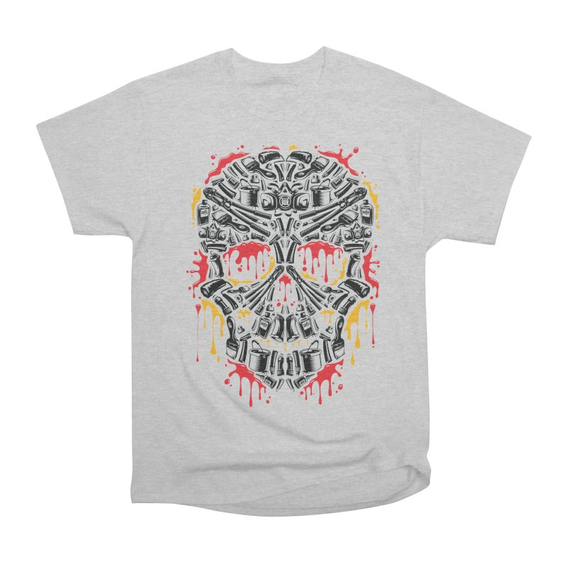 Sweet Streets Skull Women's Heavyweight Unisex T-Shirt by zoelone's Artist Shop