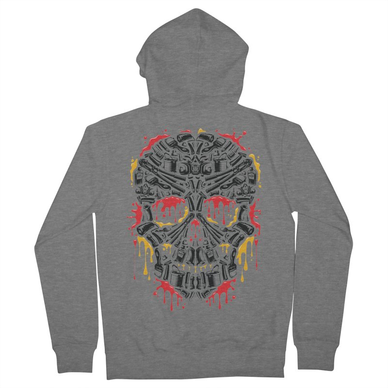 Sweet Streets Skull Women's French Terry Zip-Up Hoody by zoelone's Artist Shop