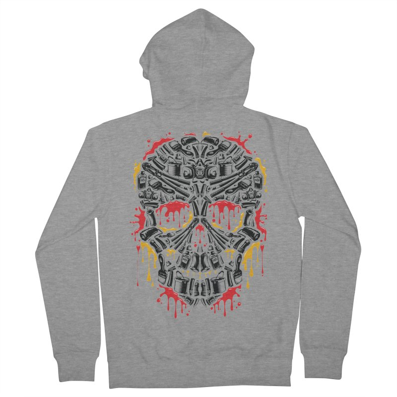 Sweet Streets Skull Men's French Terry Zip-Up Hoody by zoelone's Artist Shop