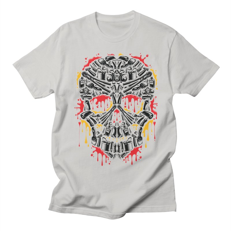 Sweet Streets Skull Men's Regular T-Shirt by zoelone's Artist Shop