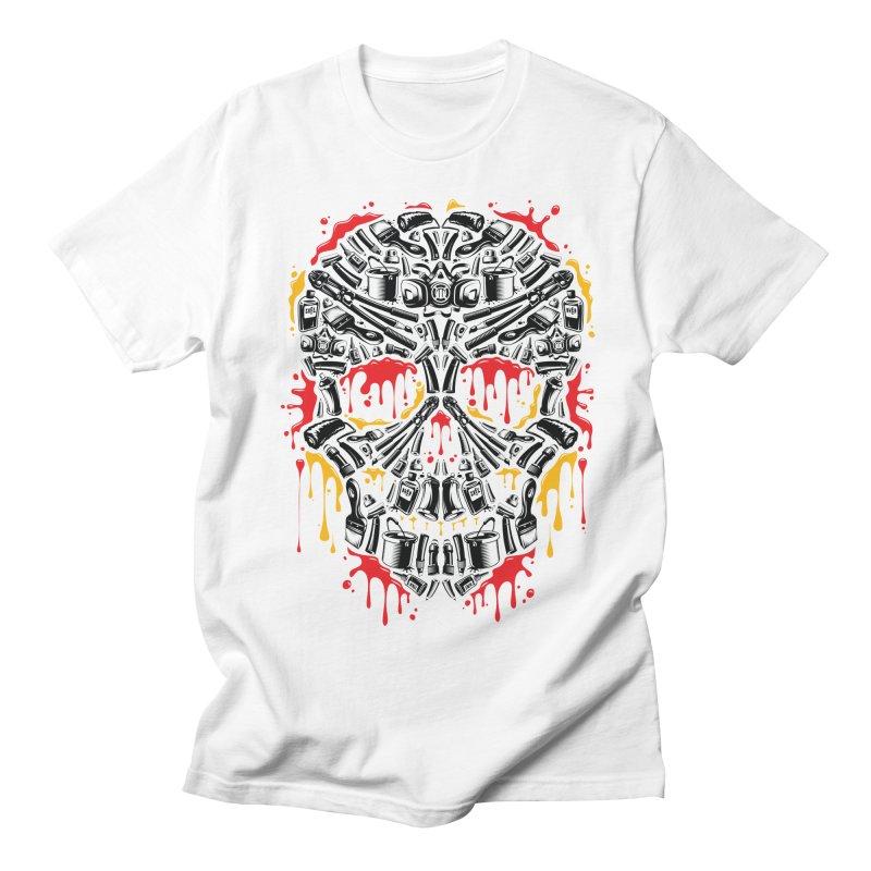 Sweet Streets Skull Men's Regular T-Shirt by zoelone's Artist Shop