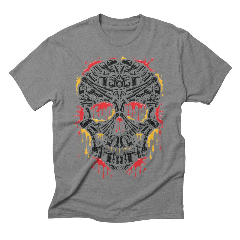 Sweet Streets Skull Men's Triblend T-Shirt by zoelone's Artist Shop