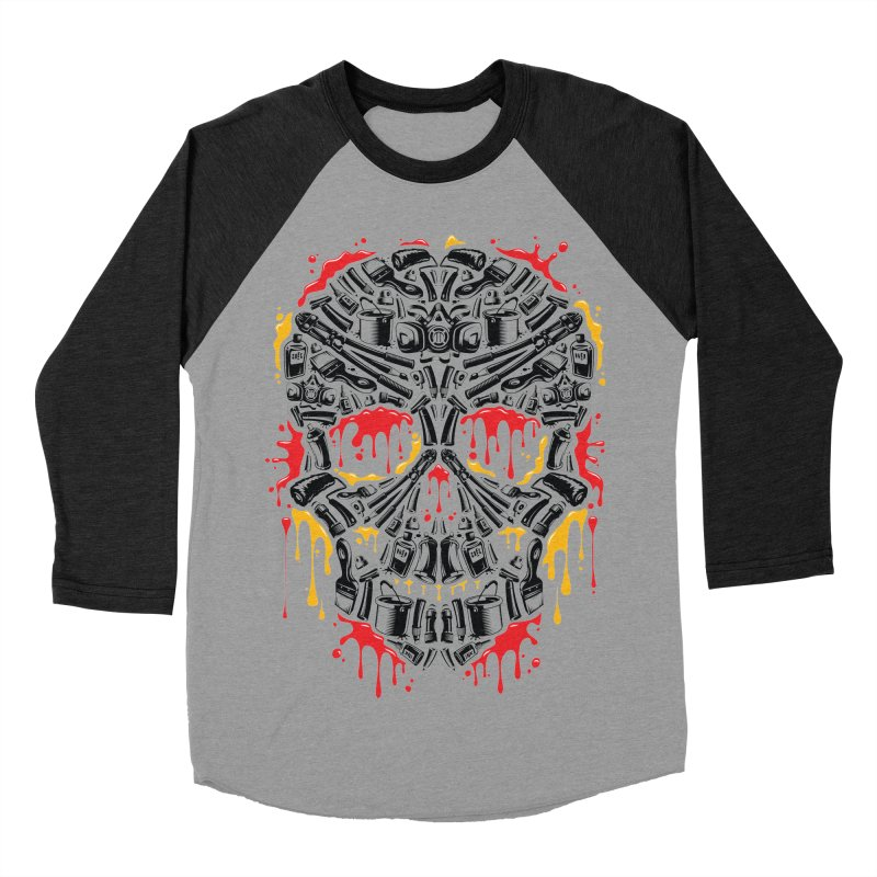 Sweet Streets Skull Women's Baseball Triblend Longsleeve T-Shirt by zoelone's Artist Shop
