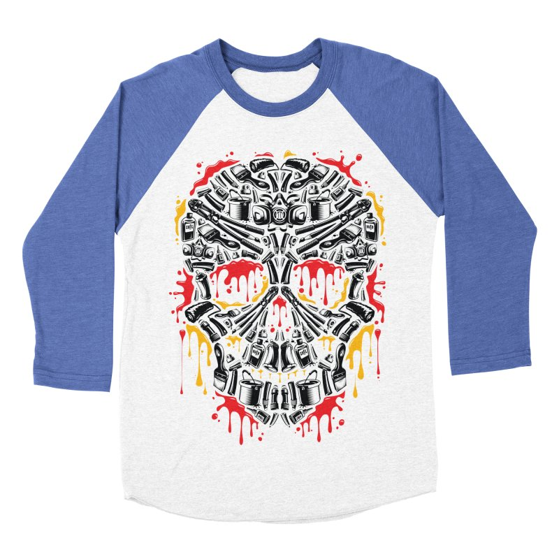 Sweet Streets Skull Men's Baseball Triblend Longsleeve T-Shirt by zoelone's Artist Shop