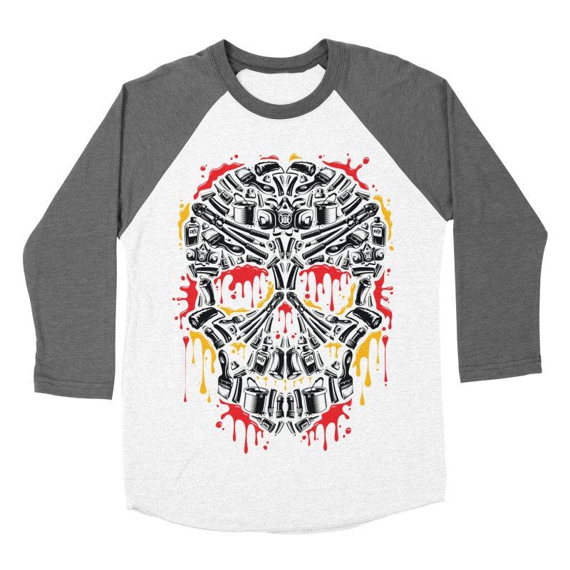 Sweet Streets Skull Men's Baseball Triblend Longsleeve T-Shirt by zoelone's Artist Shop