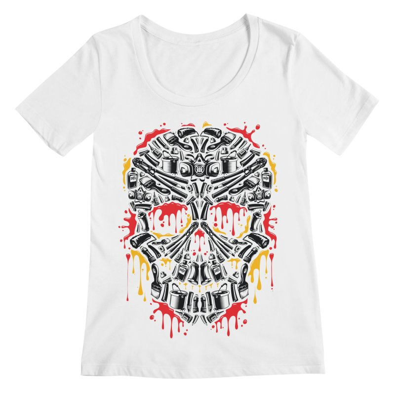 Sweet Streets Skull Women's Scoopneck by zoelone's Artist Shop