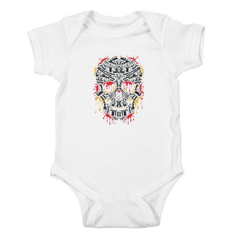 Sweet Streets Skull Kids Baby Bodysuit by zoelone's Artist Shop