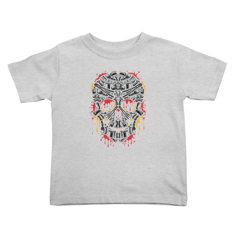 Sweet Streets Skull Kids Toddler T-Shirt by zoelone's Artist Shop