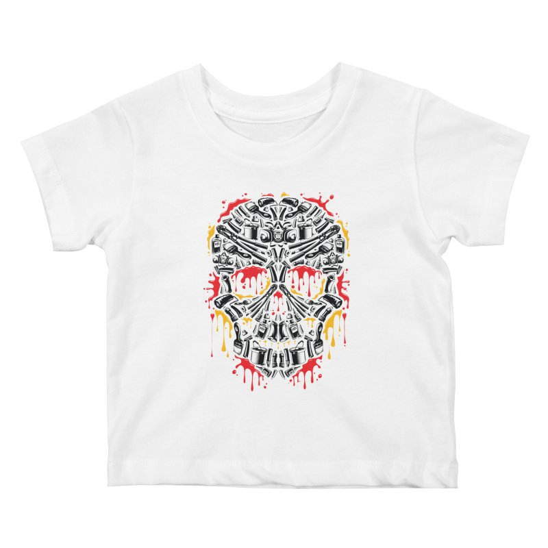 Sweet Streets Skull Kids Baby T-Shirt by zoelone's Artist Shop
