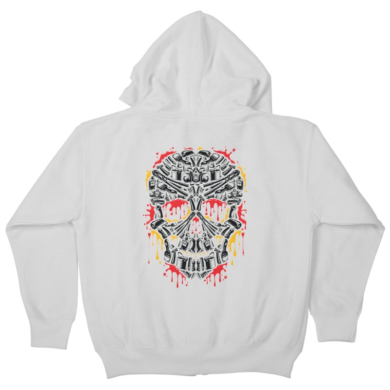 Sweet Streets Skull Kids Zip-Up Hoody by zoelone's Artist Shop