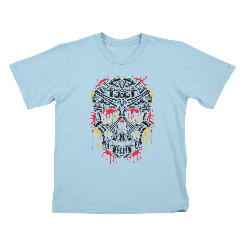 Sweet Streets Skull Kids T-Shirt by zoelone's Artist Shop