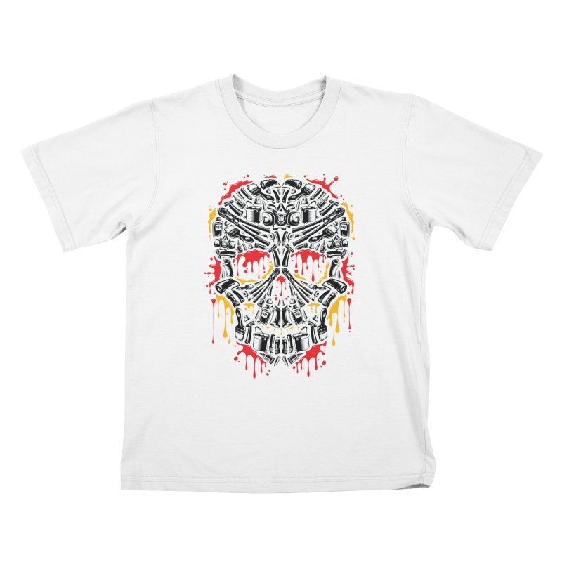 Sweet Streets Skull Kids T-Shirt by zoelone's Artist Shop