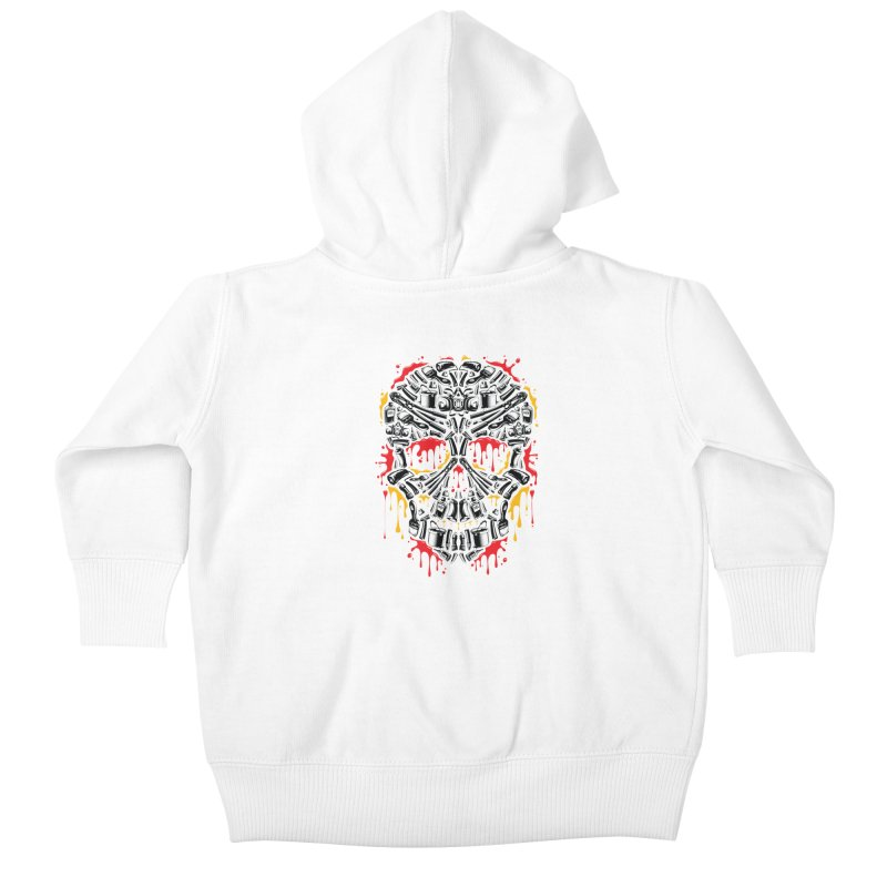 Sweet Streets Skull Kids Baby Zip-Up Hoody by zoelone's Artist Shop