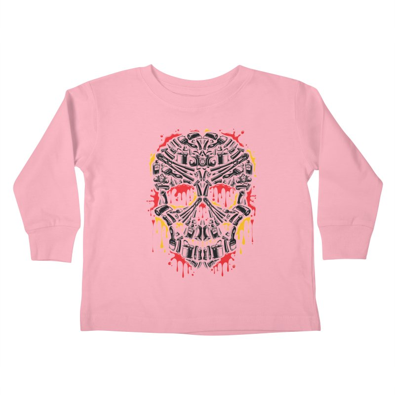 Sweet Streets Skull Kids Toddler Longsleeve T-Shirt by zoelone's Artist Shop