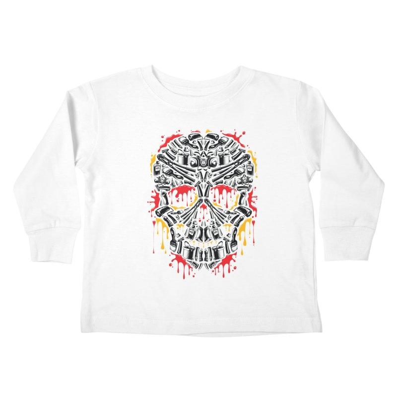 Sweet Streets Skull Kids Toddler Longsleeve T-Shirt by zoelone's Artist Shop