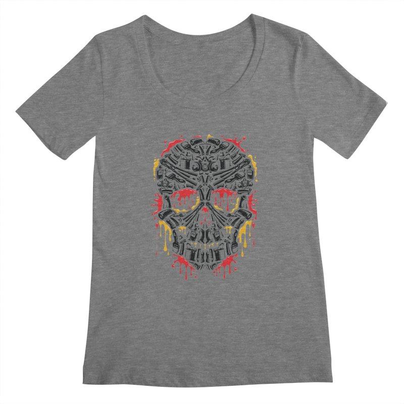 Sweet Streets Skull Women's Regular Scoop Neck by zoelone's Artist Shop
