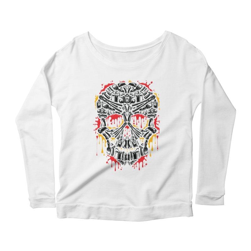 Sweet Streets Skull Women's Scoop Neck Longsleeve T-Shirt by zoelone's Artist Shop