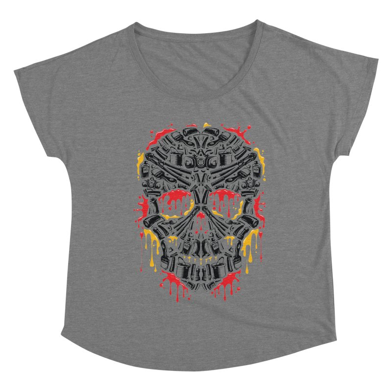 Sweet Streets Skull Women's Dolman Scoop Neck by zoelone's Artist Shop
