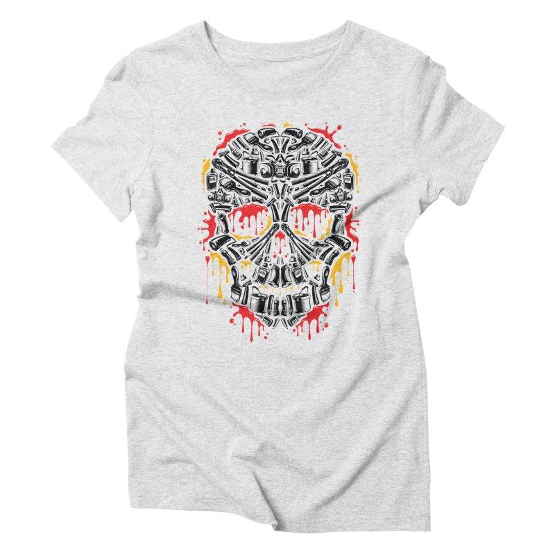 Sweet Streets Skull Women's Triblend T-Shirt by zoelone's Artist Shop