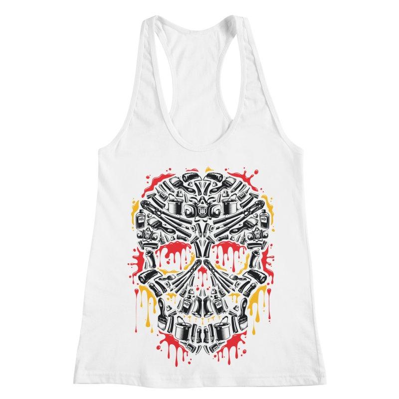 Sweet Streets Skull Women's Racerback Tank by zoelone's Artist Shop