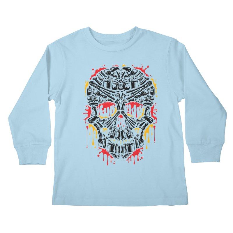 Sweet Streets Skull Kids Longsleeve T-Shirt by zoelone's Artist Shop