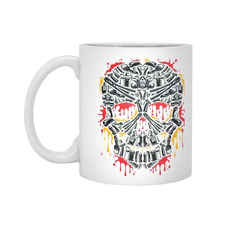 Sweet Streets Skull Accessories Mug by zoelone's Artist Shop