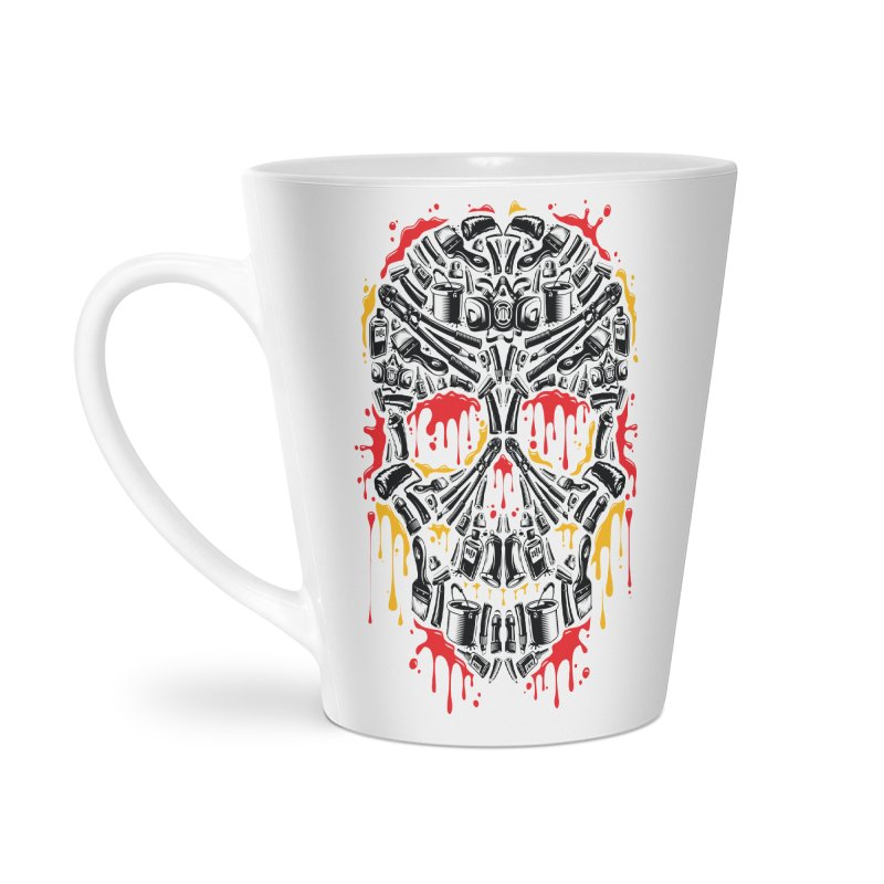 Sweet Streets Skull Accessories Latte Mug by zoelone's Artist Shop