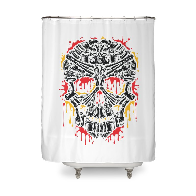 Sweet Streets Skull Home Shower Curtain by zoelone's Artist Shop