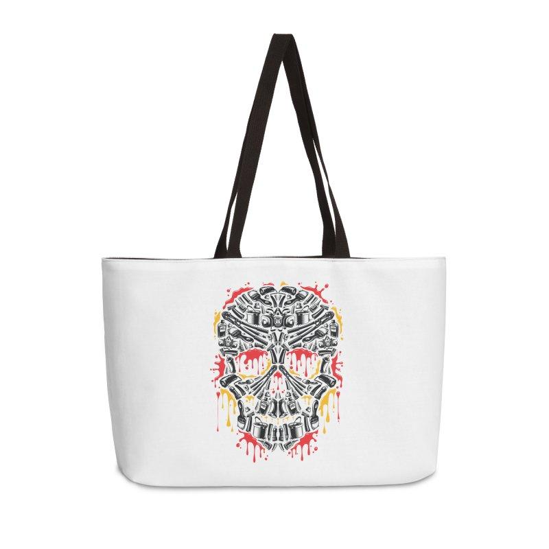 Sweet Streets Skull Accessories Weekender Bag Bag by zoelone's Artist Shop