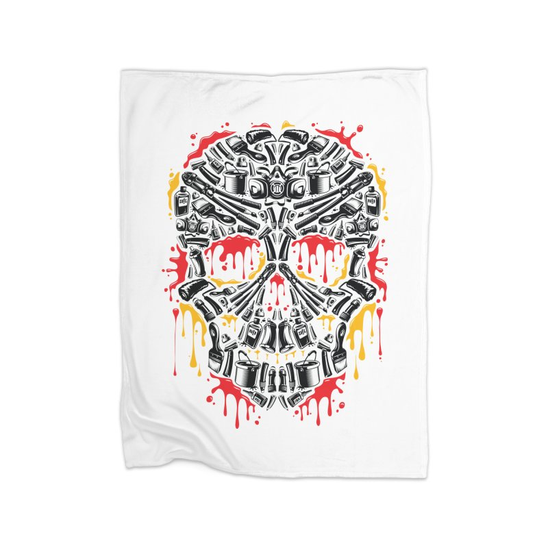 Sweet Streets Skull Home Blanket by zoelone's Artist Shop