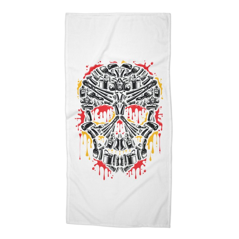Sweet Streets Skull Accessories Beach Towel by zoelone's Artist Shop
