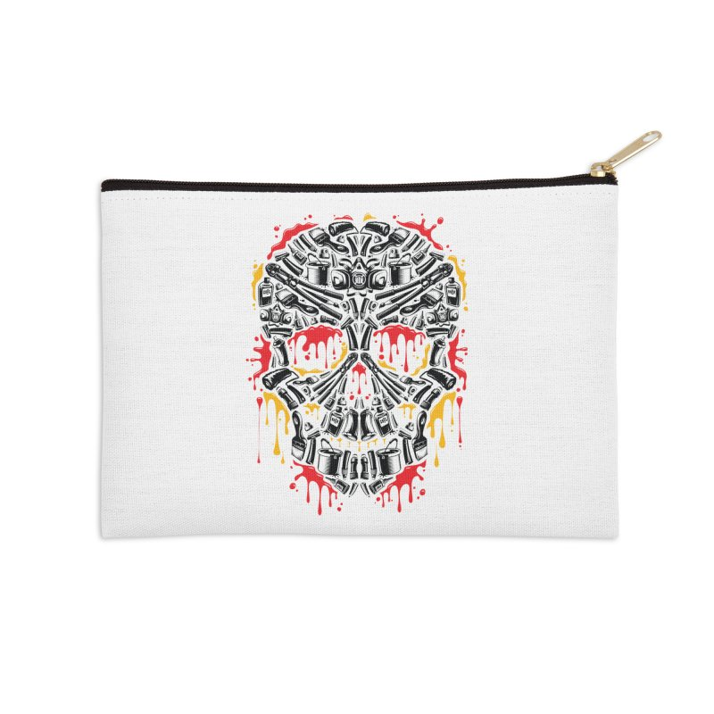 Sweet Streets Skull Accessories Zip Pouch by zoelone's Artist Shop