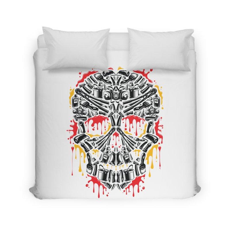 Sweet Streets Skull Home Duvet by zoelone's Artist Shop