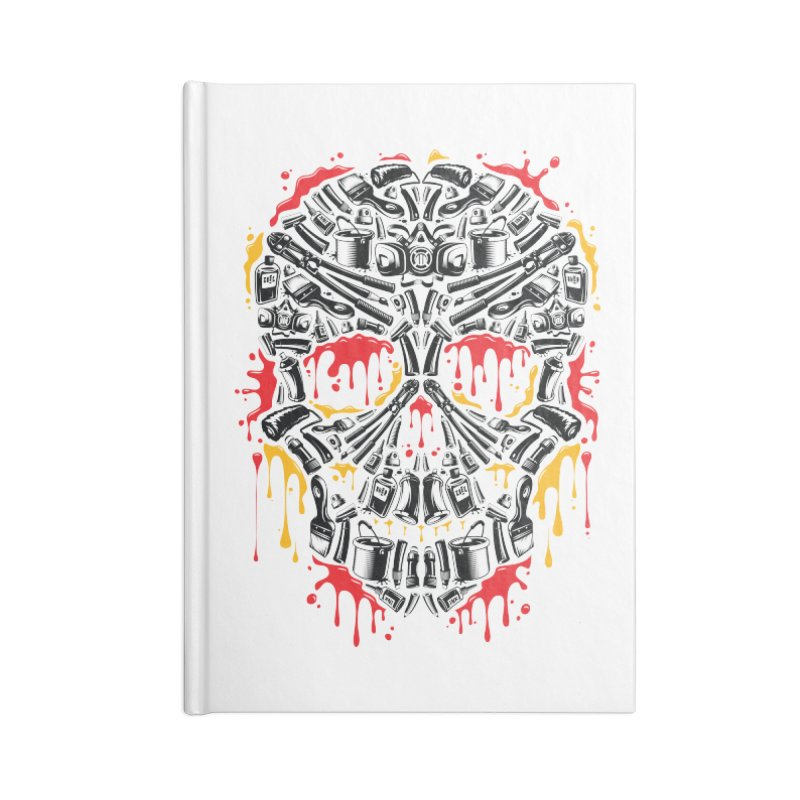 Sweet Streets Skull Accessories Lined Journal Notebook by zoelone's Artist Shop